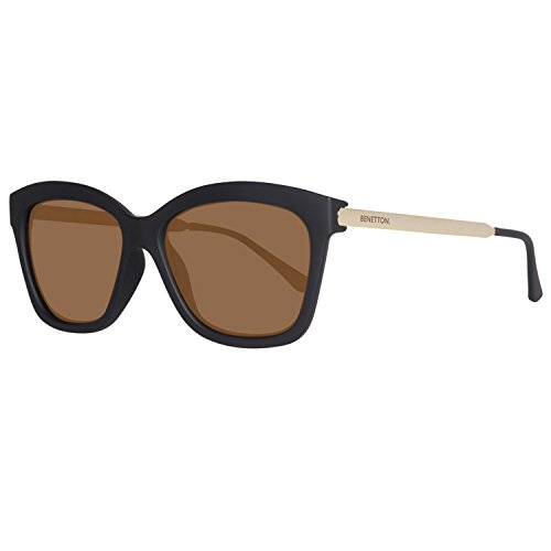 United Colors of Benetton BE988S01 Gafas de sol, Black/Gold, 56 para Mujer