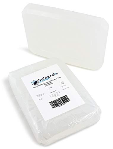 Seifenprofis© Glycerinseife Rohseife Seifenbasis SLS/SLES-Frei (1kg Transparent)