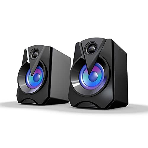 Altoparlanti stereo multimediali, altoparlanti per PC, altoparlanti portatili con ingresso audio da 3,5 mm alimentati tramite USB, adatti per computer, smartphone, tablet