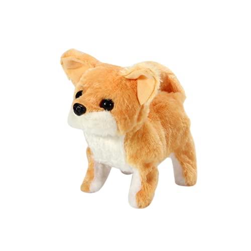 LICHENGTAI Electric Plush Dog Toy, Highly Simulation Dog Toy Walking Dog Puppy Barking Dog Toy Interactive Dog for Birthday Gift Children Toy Home Decoration