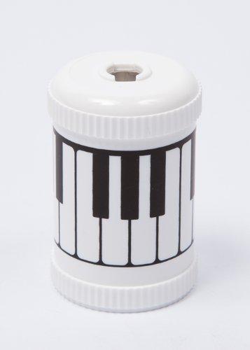 Potloodslijper Plastic met Piano Motief Zwart en Wit
