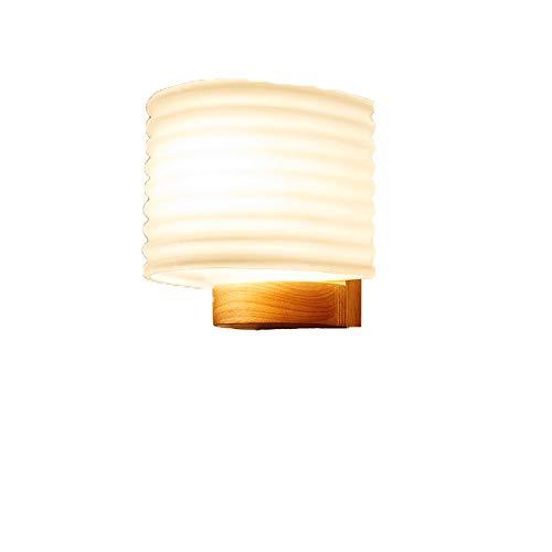 Lámpara de pared de vidrio de madera maciza simple y moderna Accesorios de iluminación de lavado de pared modernos E27 Ideal para sala de estar Pasillo Dormitorio Balcón Comedor Cocina Accesorio de il