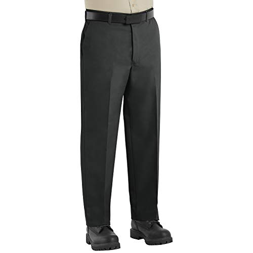Red Kap Men's Wrinkle-Free Work Pants, Black, 29W x 30L