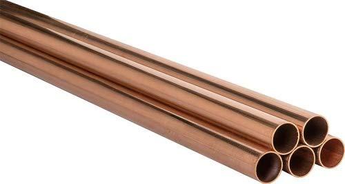 Kupferrohr in 5 m Stangen 12 15 18 22 28 35 42 54 mm im Bund CU Kupfer DVGW Heizung Sanitär Rohrdimension in mm 9371357.12x1-Bund