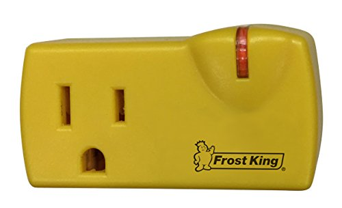 Frost King 099000 Self-Regulating Thermostat for Heat Cable Kits , Black