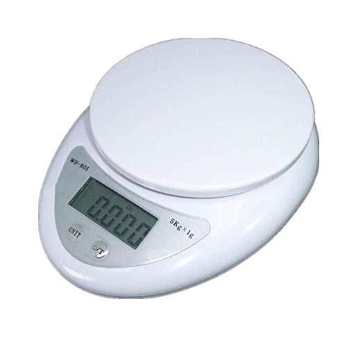 TenYua - Báscula digital portátil de 5 kg/1 g con LED, básculas electrónicas