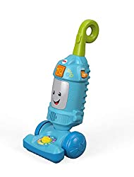 """Push toy vacuum with music, lights, and phrases to encourage your baby to push and play Flip the switch """"on"""" for vacuum sounds and """"off"""" for learning songs and phrases Press the light-up canister button for more fun songs and phrases Adjustable d..."""