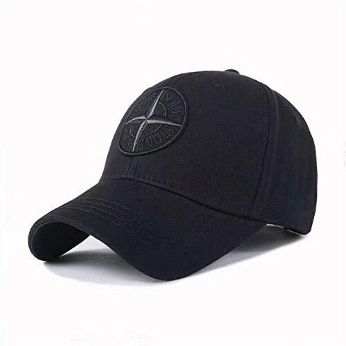 Baseballmützen Hip Hop Hüte Angeln Golf Sonnenschutz Laufen im Freien Trucker Sports New Stone Island Logo Baseball-Mütze Kappe mit Verstellbarer Kappe Unisex-Golfmütze UK @ Black