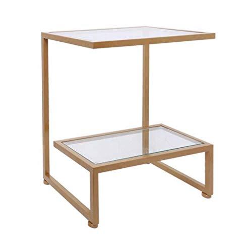 NSYNSY - Mesas auxiliares de silla, mesas de café, mesa de café, mesa de centro de metal, mesa de comedor, mesa de cristal, 50 x 35 x 55 cm
