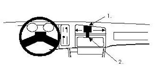 Brodit ProClip - Kit de coche para Ford Sierra 82-86 (para Europa, montaje central)