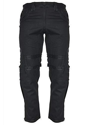 Dead Threads Droid Gothic Punk Heavy Metal Men's Bondage Pants Black S (Ropa)