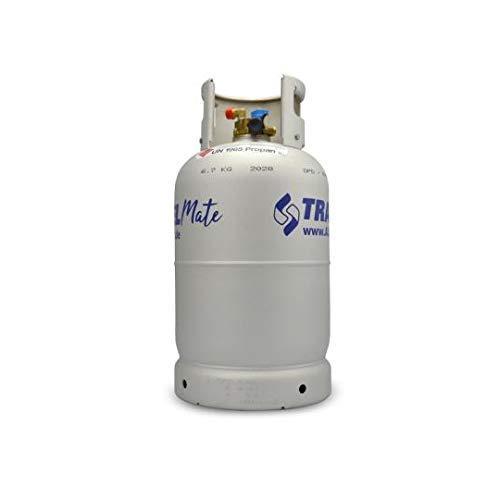 Toploo Multiventil Alugas Gas-Tankflasche Größe 11kg (27 Liter) mit Aussenfullset