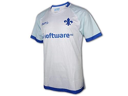 Craft Darmstadt 98 Auswärts Trikot weiß SV98 Away Shirt Darmstadt Fan Jersey, Größe:L