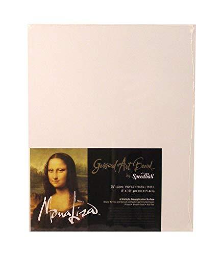 Speedball Mona Lisa 18-inch-by-24-inch Gessoed Art Junta