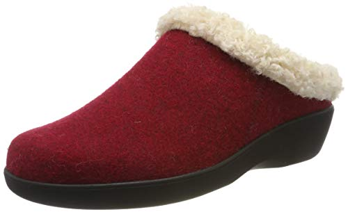 Berkemann Damen Stine Pantoffeln, Rot (Dunkelrot 258), 41.5 EU