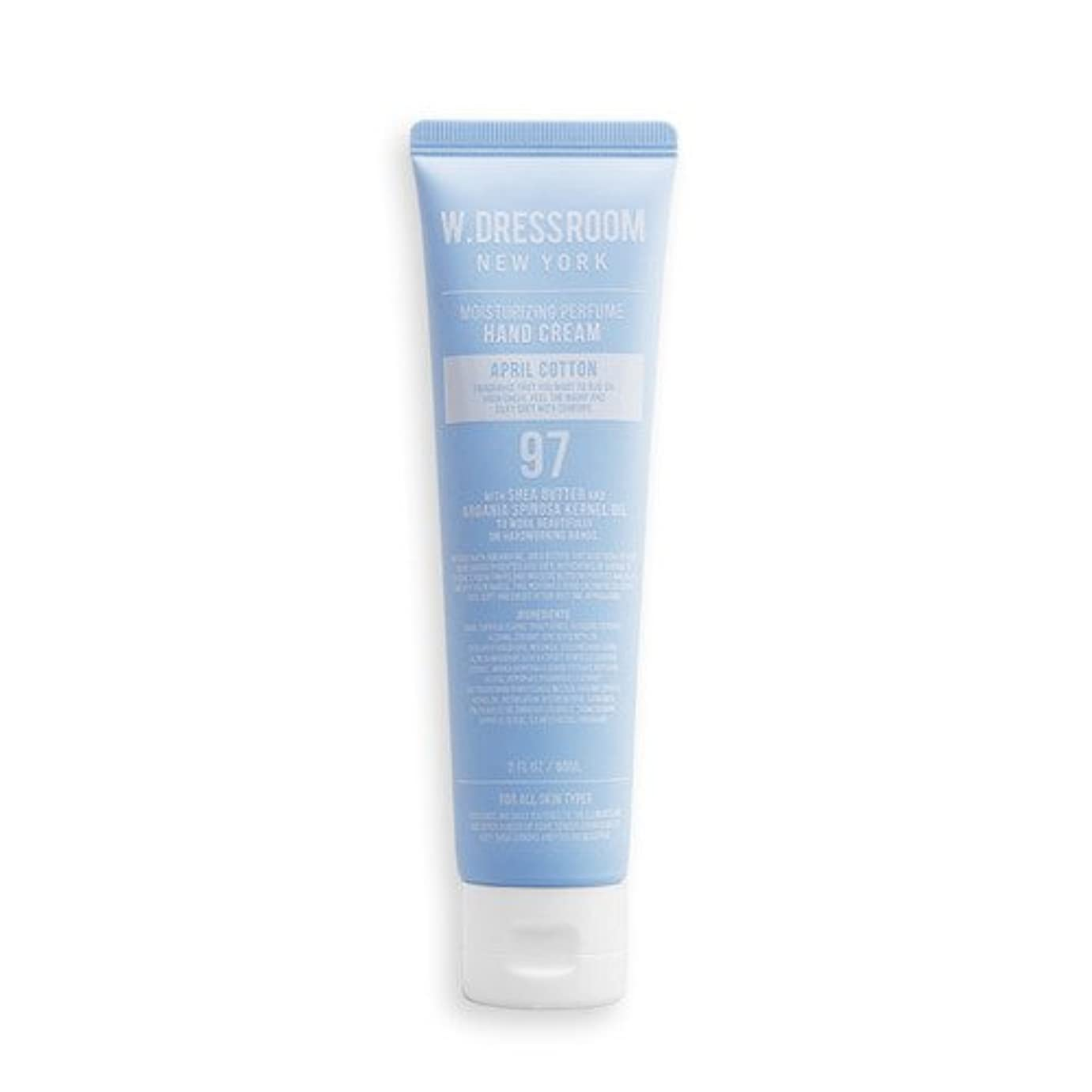 クリエイティブ無力小道W.DRESSROOM Moisturizing Perfume Hand Cream 60ml/ダブルドレスルーム モイスチャライジング パフューム ハンドクリーム 60ml (#No.97 April Cotton) [並行輸入品]