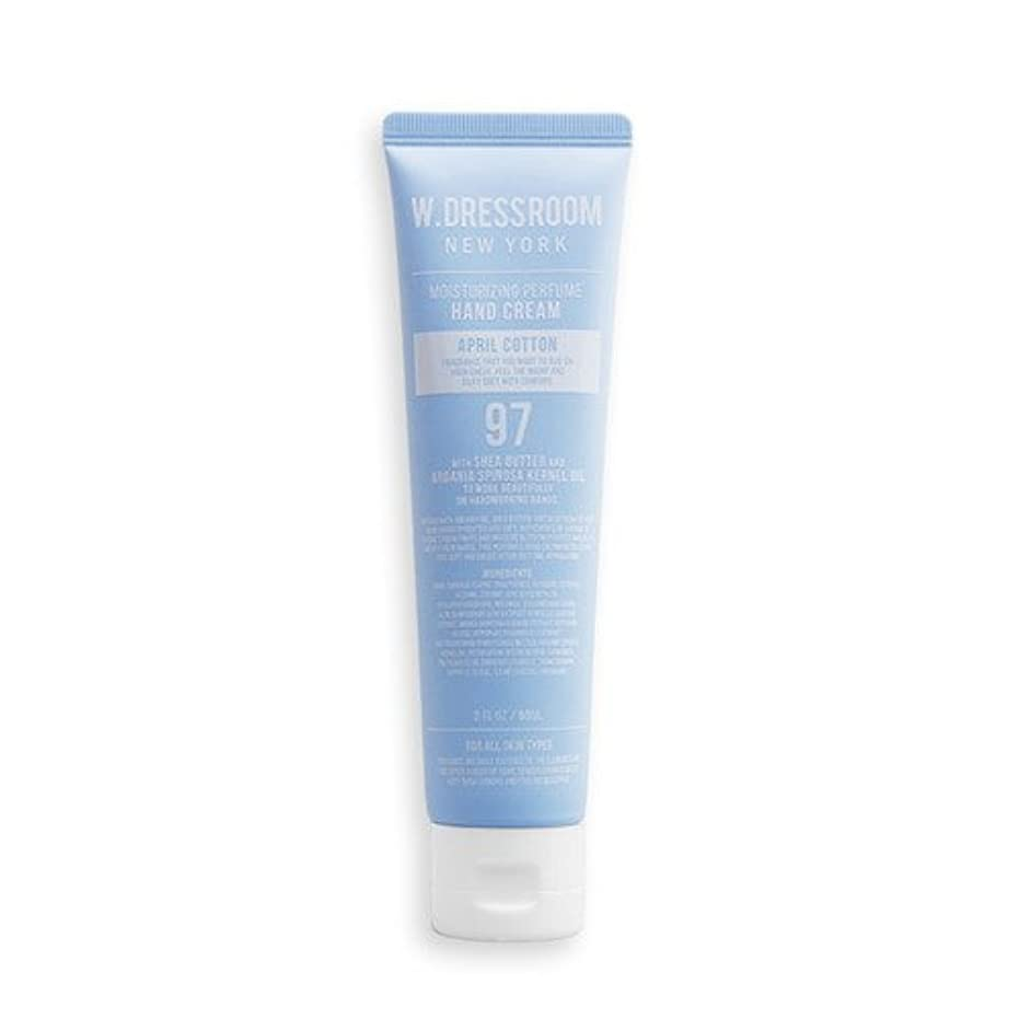 ロマンスジャンプする名義でW.DRESSROOM Moisturizing Perfume Hand Cream 60ml/ダブルドレスルーム モイスチャライジング パフューム ハンドクリーム 60ml (#No.97 April Cotton) [並行輸入品]