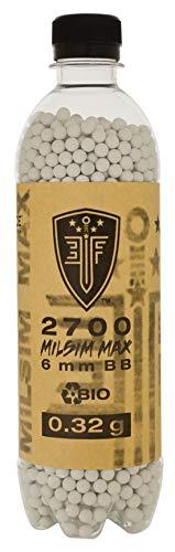 Elite Force Premium Biodegradable 6mm Airsoft BBS Ammo.32 Gram (Milsim Max), 2700 Count