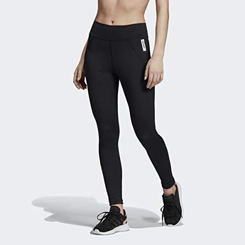 adidas Brilliant Basics - Pantaloni Aderenti da Donna, Donna, Aderente, F193CSPW249, Nero/Bianco, M