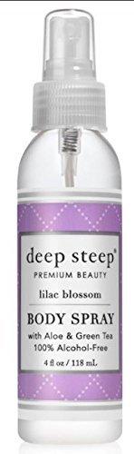 Deep Steep Natural Body Spray, Lilac Blossom 4 Fluid Ounce