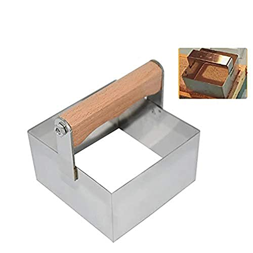 Acero inoxidable Raspador de acero inoxidable cortador de miel herramienta de corte apicultura Accesorios