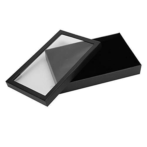 Caja del sostenedor de la joyería, 36 pendientes del anillo de la ranura Organizador de la vitrina colgante Caja de almacenamiento...