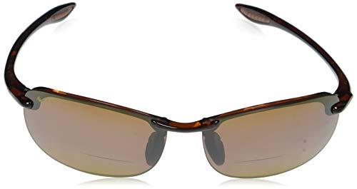 Maui Jim Makaha Reader (ajuste universal) H805N-1025 | Gafas de sol polarizadas con montura sin montura tipo tortuga, lentes de bronce HCL, con tecnología patentada PolarizedPlus2 2.5