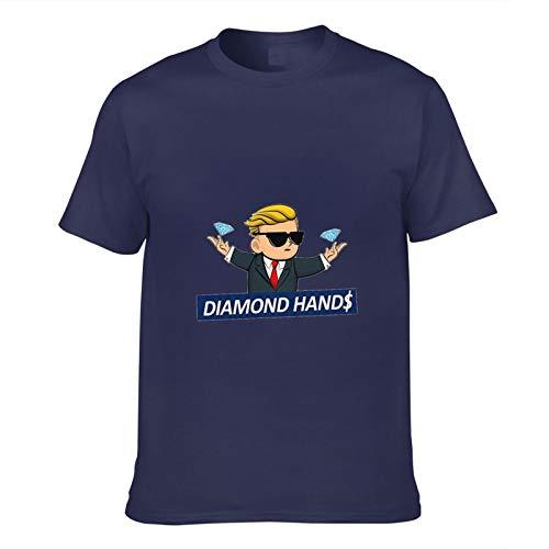 Maglietta Unisex Funny Stock Trader Wallstreetbets Abbigliamento T-Shirt Top Manica Corta, T-Shirt Casual con Mani di Diamante Stampate in 3D, XS-3XL