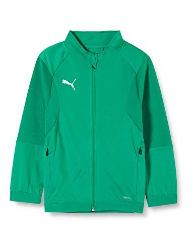 Puma Liga Training Jacket Jr, Giacca Tuta Unisex-Bambini, Verde (Pepper Green White), 128
