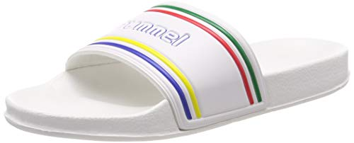 hummel Unisex-Erwachsene Pool Slide Retro 203807 Badeschuhe, Weiß (White 9001), 41 EU