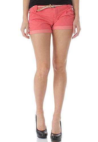 Ragwear Shorts Damen Heaven B 1911-50011 Rot Coral 4005, Hosengröße:29