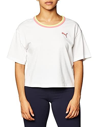 PUMA Damen Celebration T-Shirt, Weiß, X-Groß