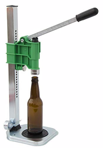 North Mountain Supply Spring Loaded Bench Bottle Capper - Green