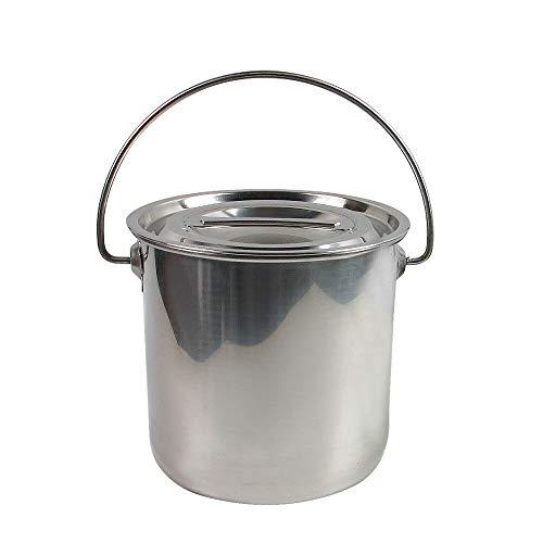 YIYIBY Edelstahl Eiseimer viele Anwendungen Fisch-Eimer Schlachte-Eimer Küche Kompost Eimer Abfalleimer mit Deckel Entfernbarer (6L)
