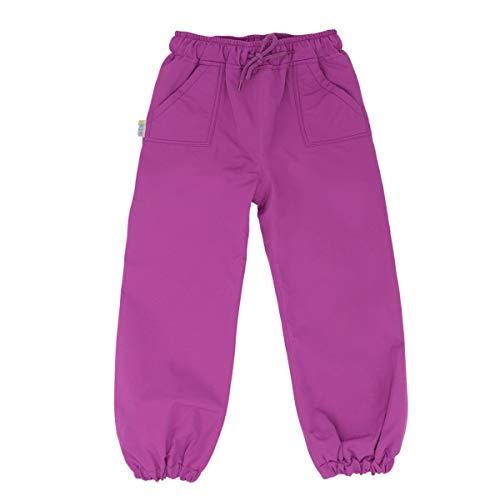 JAN & JUL Kids Waterproof Single Layer Rain Pants (Purple, 6-7 Years)
