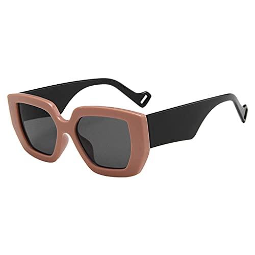 Sharplace Gafas de Sol de Gran tamaño de Moda UV400 Conducción Gafas Retro Motocicleta Antideslumbrante Enmarcado Protector de Ojos antirrayado Gafas de Sol - Café