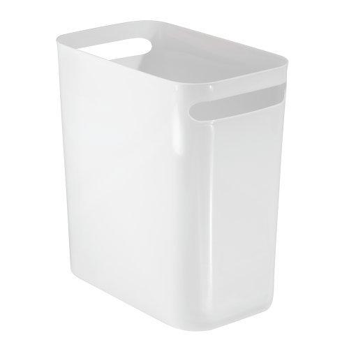 InterDesign 93181EU Una Papierkorb, 30,5 cm, weiß