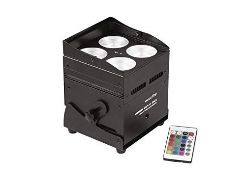 EUROLITE AKKU UP-4 QCL Spot QuickDMX | Lichtstarkes Uplight mit 4 x 8-Watt-4in1-LED und QuickDMX-Transceiver
