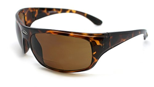 Eye Ojo Renegade Patented Bifocal Polarized Reader Full Rim Men's Fishing Sunglasses 100% UV Protection (Tortoise Frame, Brown Lens - 600882, Bifocal +2.50)