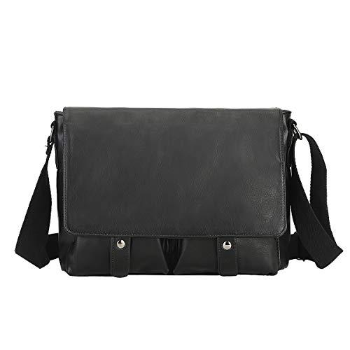 Weshow Kunstleder Umhängetasche Laptoptasche Schultertasche für 10.5 Zoll 31 * 8.5 * 22CM