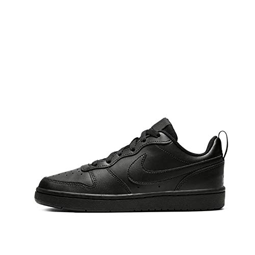 Nike Herren Court Borough Low 2 (GS) Basketballschuhe, Schwarz (Black/Black/Black 1), 39 EU
