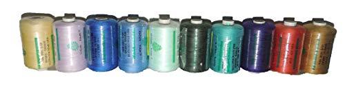 LA BOUTIQUE 10 x 1000 m 40/2 100% poliéster, Colores Surtidos + 2 Cajas Ref: 10BC
