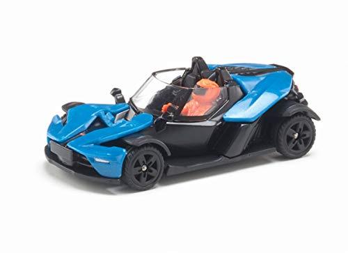 siku 1436, KTM X-Bow GT, Metall/Kunststoff, Blau/Schwarz, Bereifung aus Gummi, Spielzeugfahrzeug für Kinder