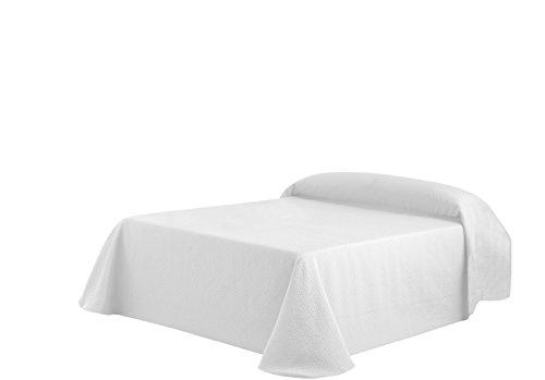 Eysa Tagesdecke, 250cm, 75prozent Polyester, 25prozent Baumwolle, Weiß 50