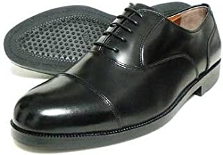 [Veneziano] 本革 内羽根ストレートチップ ビジネスシューズ 黒(幅5E/Fワイズ) 27.5cm、28cm(28.0cm)、28.5cm、29cm(29.0cm)、30cm(30.0cm)【大きいサイズ(ビッグサイズ) 革靴?紳士靴】