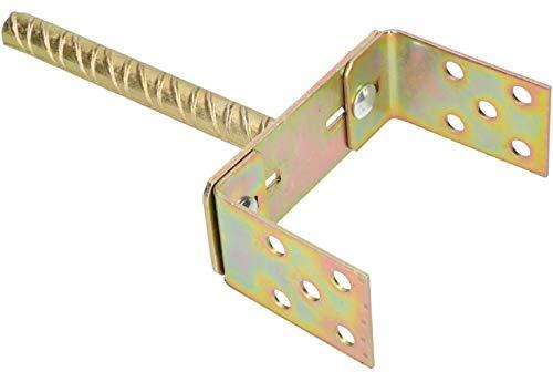 KOTARBAU® U-Pfostenträger 0-160 mm Breitverstellbar Stange 200 mm Pfostenträger mit Betonanker Bodenhülse Pfosten zum Einbetonieren Dolle Verzinkt