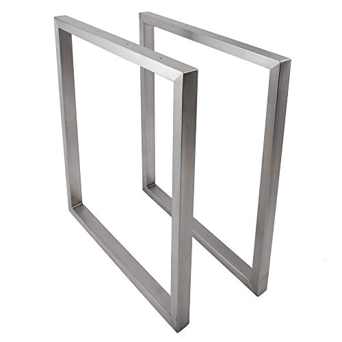 KTC Tec tafelframe roestvrij staal TRG 50x30 800 onderstel glijders tafelonderstel, 1 stuk