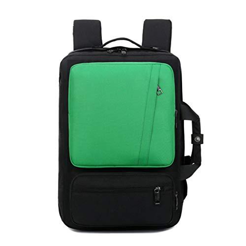 KKCD 17 Inch Laptop Rugzak Multifunctionele Notebook Aktetas/schouder Bag/handtas School Bag Voor Mannen Vrouwen, Groen
