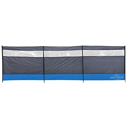 Charles Bentley Odyssey 4 Pole Large 5m Camping Windbreak Rain Wind Shelter Grey & Blue Beach