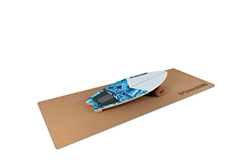 BoarderKING Indoorboard Wave - Skateboard Surfboard Trickboard Balanceboard Balance Board (White (100 mm x 33 cm (Ø x L))
